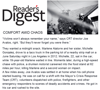 "Preview text of Reeader's Digest article ""Comfort Amid Chaos\"""