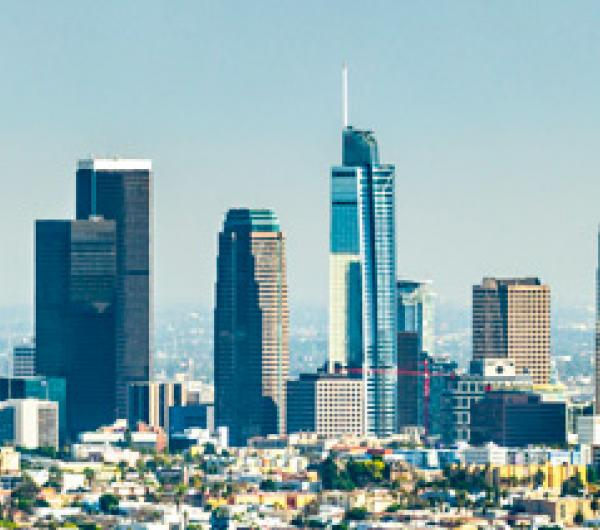 Panoramic shot of downtown Los Angeles